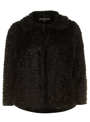 Black fur jacket - Dorothy Perkins