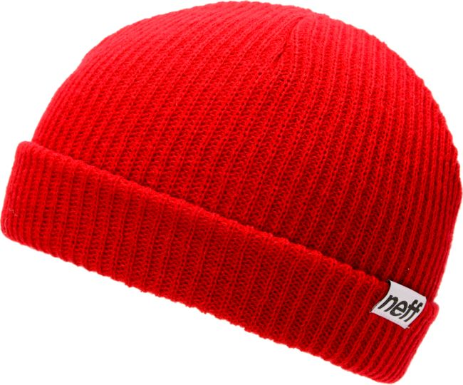 Neff fold red beanie at zumiez : pdp