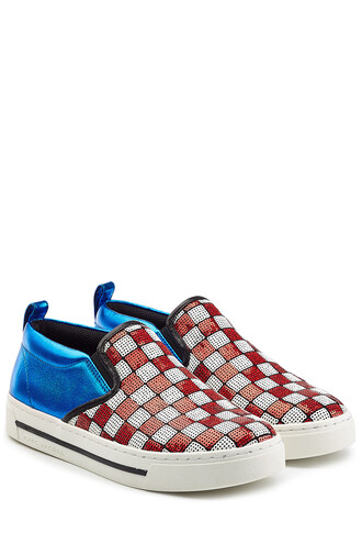 sneakers. sneakers leather sequins multicolor shoes