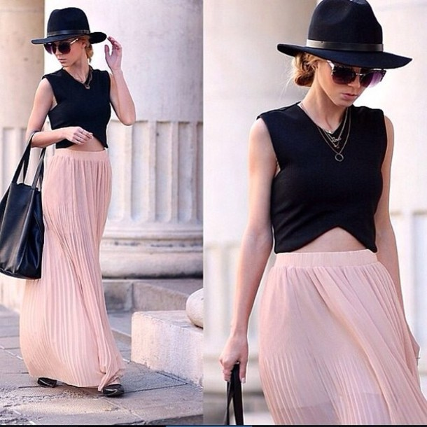 5981c371ca6a skirt maxi skirt pleated skirt chiffon skirt fashion blogger style  celebrity style steal