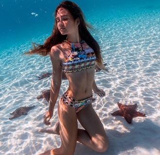 swimwear bikini bahamagirls fashion style trendy high waisted bikini bikini top bikini bottoms boho bikini bahama instagram