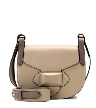 bag shoulder bag leather beige