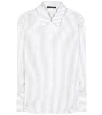 shirt silk white top