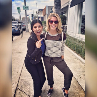 shoes emily bett rickards arrow vans victoria smoke black and white sweater pants