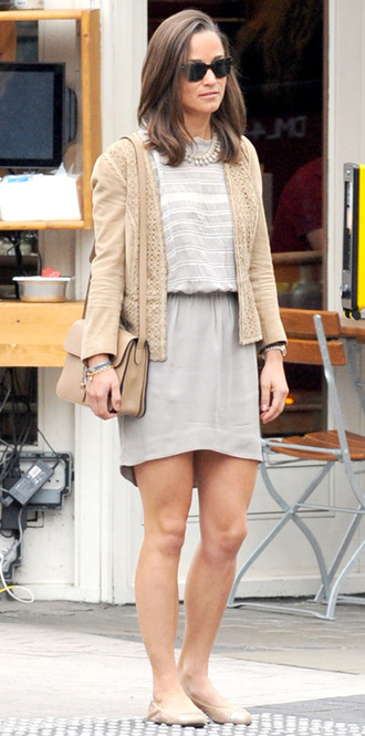 dress cardigan pippa middleton gray dress