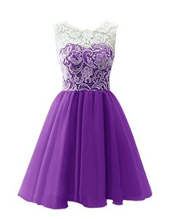 Amazon.com: Tsbridal 2016 Short Homecoming Dress 8th Grade Prom Dresses Lace Graduation Gowns: Clothing