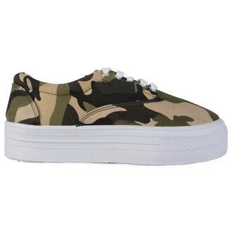 shoes camouflage platform shoes sneakers