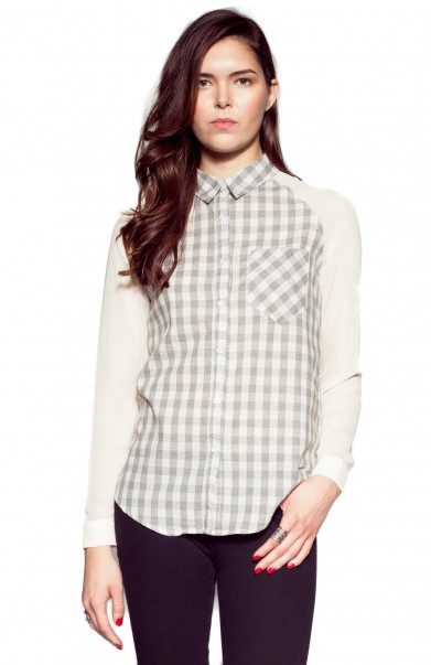 PynkNylon | Plaid Blouse - TOPS - Clothes