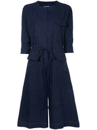 jumpsuit women cotton blue