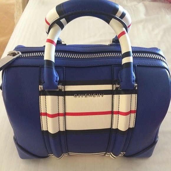 givenchy bag blue, print handbag, casual