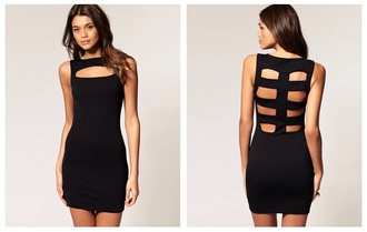 dress little black dress bodycon bodycon dress cut out bodycon dress cut-out dress black dress cut out back dress