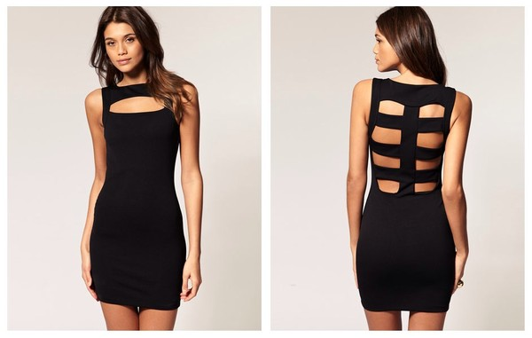 dress little black dress bodycon bodycon dress cut out bodycon dress cut-out dress black dress cut out back dress