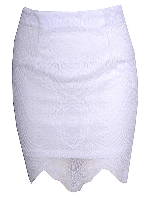Raw Glitter   Sexy Semi-Sheer Lace Eyelash Skirt, Women's Laced Skirts