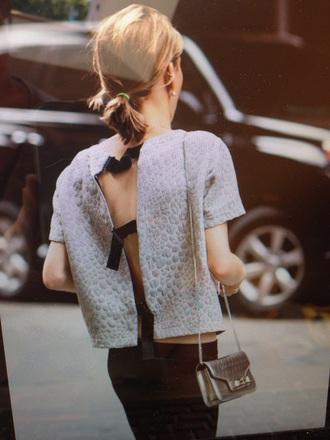 blouse grey top pantherprint