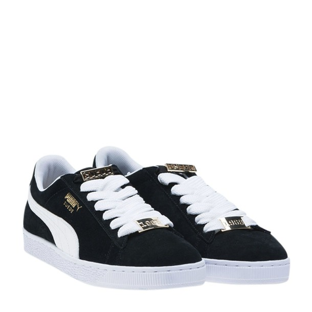 puma sneakers lace black shoes