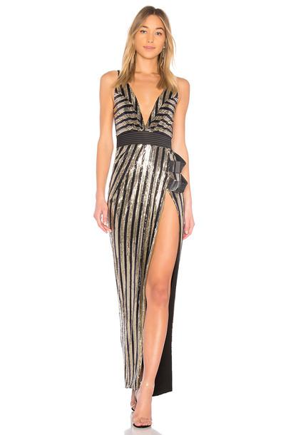 Zhivago gown metallic gold dress