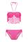 Nazz collection latisha neon pink petal tassel bikini
