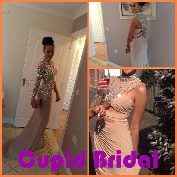 dress prom dress long prom dresses evening gown modest prom dresses with sleeves crystal prom dress