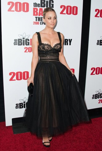 dress bustier bustier dress prom dress gown black dress kaley cuoco sandals