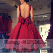 dress,homecoming dress,burgundy dress,sexy cocktail dress,cocktail dress,backless prom dress,short prom dress,big bow dress,pocket dress,burgundy prom dress with open back,pretty bow,puffy prom dress,classy party dress