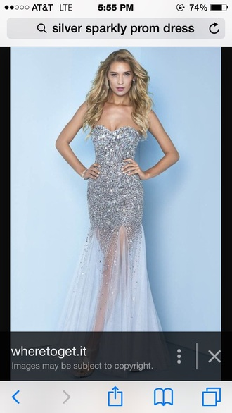 dress silver dress silver sequin dress prom dress strapless dress