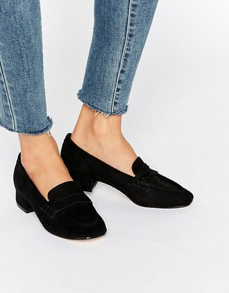 shoes loafers asos low heels