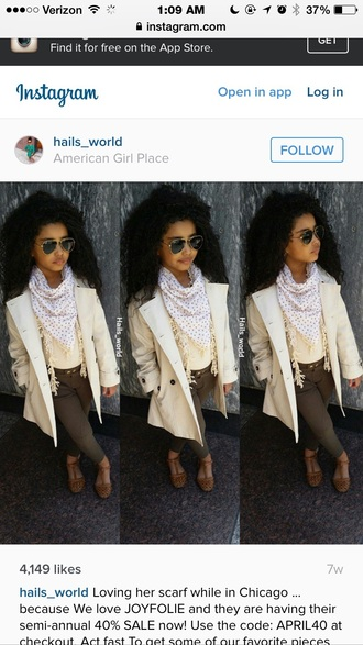 coat sunglasses style fashion be fierce scarf curly hair shoes