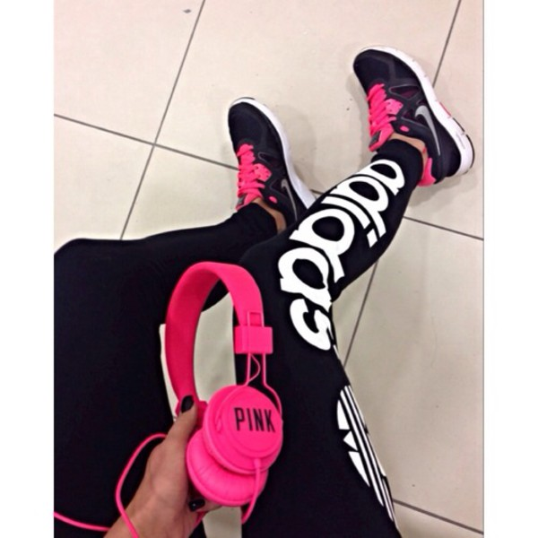 leggings adidas pants adidas tracksuit bottom adidas leggings logo pink black