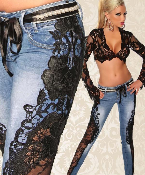 Гипюр на джинсах своими руками 130