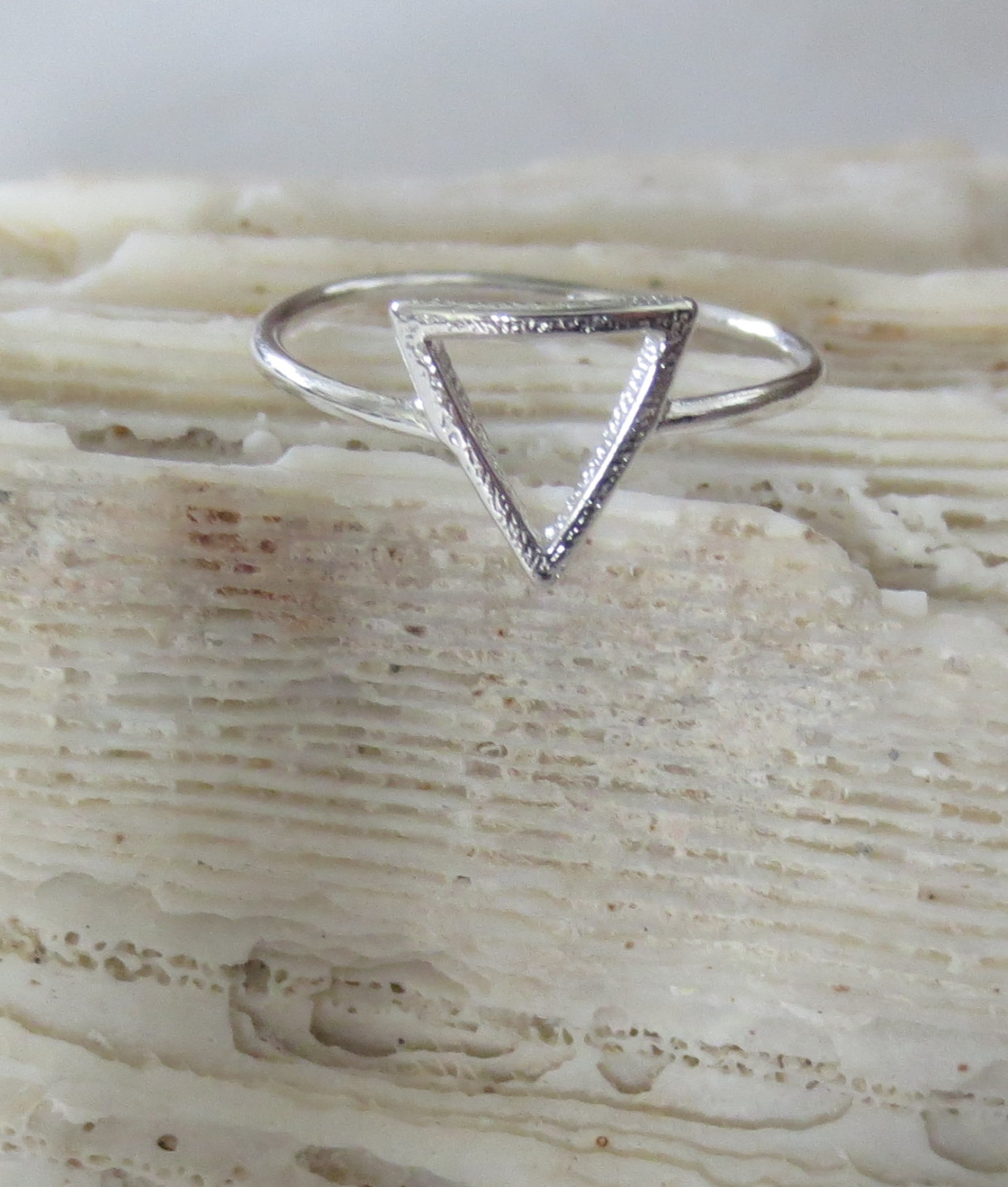 Gold and silver triangle rings/ mid rings/ knuckle rings/ midi ring