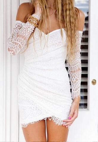 crochet white dress