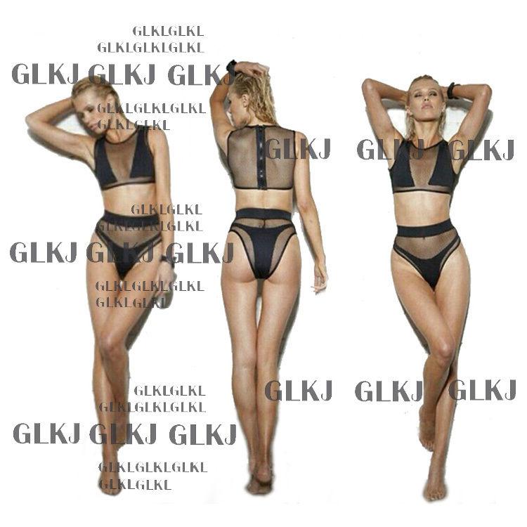 Women'S Sexy Mesh Fabric Bikini Steel Bracket Gathered Chest Swimsuit Swimwear | eBay