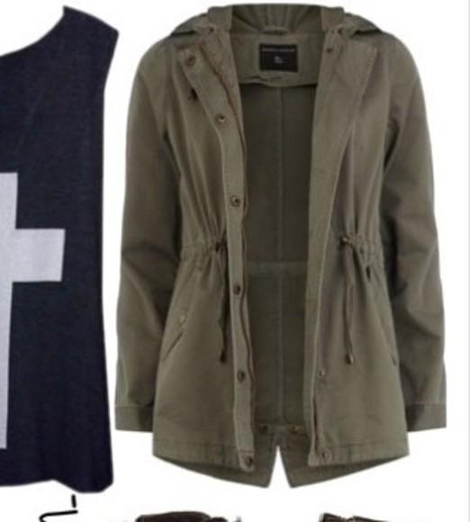jacket green jacket army green jacket cozy jacket