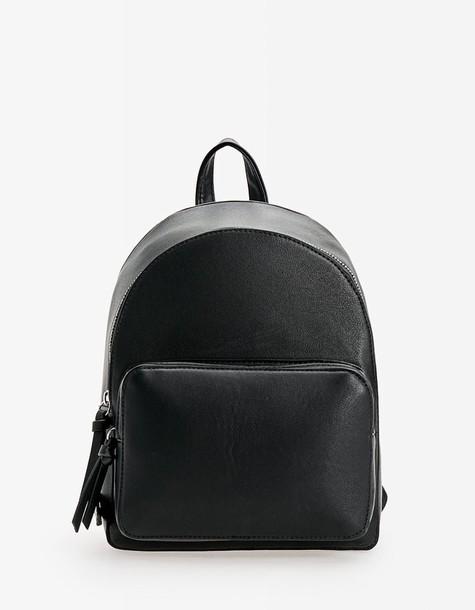 Stradivarius backpack black bag