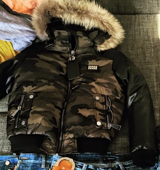 coat jacket fur army green winter outfits