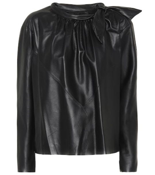 Isabel Marant Chay leather shirt in black