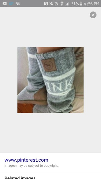 shoes pink victoria's secret gray comfy boots slippers