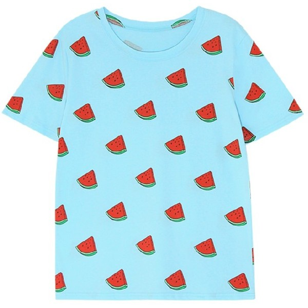watermelon print tee t-shirt - Polyvore
