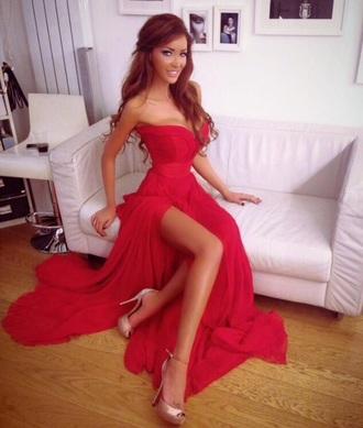 dress red dress prom dresses
