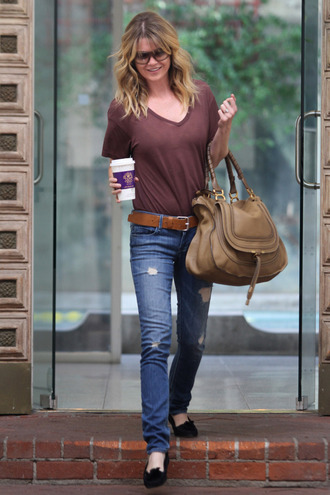 ellen pompeo brown bag bag