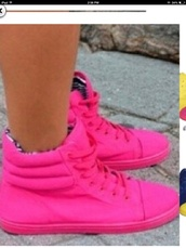 shoes,neon,pink,high top sneakers,jacket