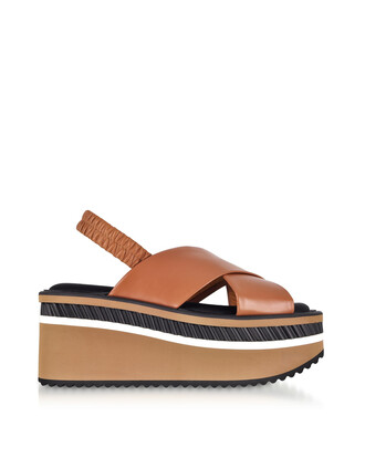 sandals platform sandals leather brown shoes