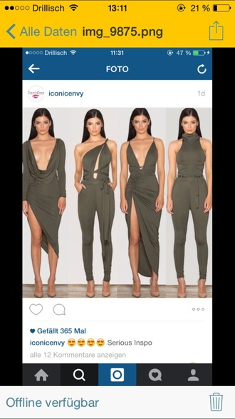 jumpsuit dress romper overalls olive green khaki