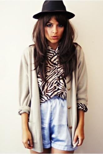 white blouse print zebra style marmalade blouse