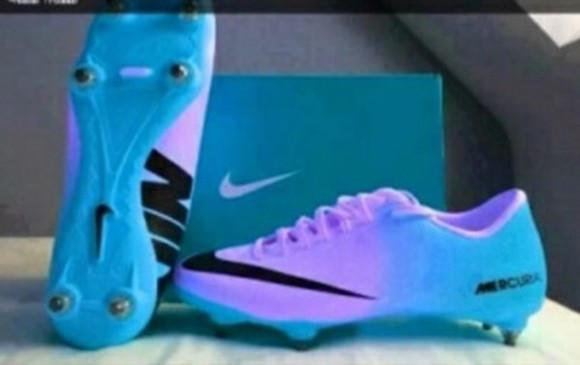 shoes nike blue shoes nike, cleats, soccer ombre purple shoes