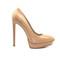 Killer heels - 6 inch platform nude pumps