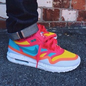 air max,colorful,shoes,mens shoes,neon,nike,nike running shoes,nike air,pink shoes,pink,blue,blue shoes,prom dress,high low,yellow,sneakers,dope,girly,orange,nike sneakers,colorful nikes,rainbow,air maxes neon,nike air max 1,nike shoes,lunar 1