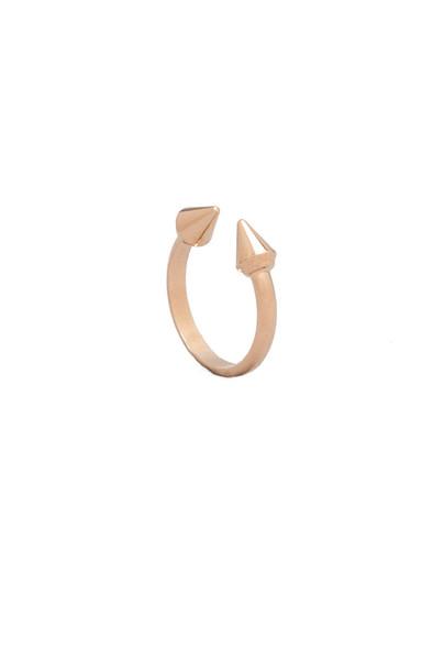 mini midi ring metallic gold