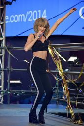 taylor swift,black shoes,shoes,top,pants