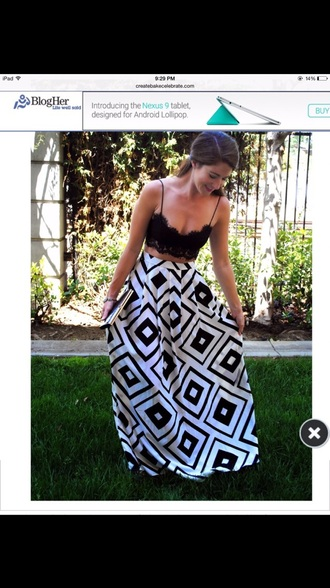 tank top nordstrom black crop top lace top skirt geometric maxi skirt black and white style crop tops nordstorm